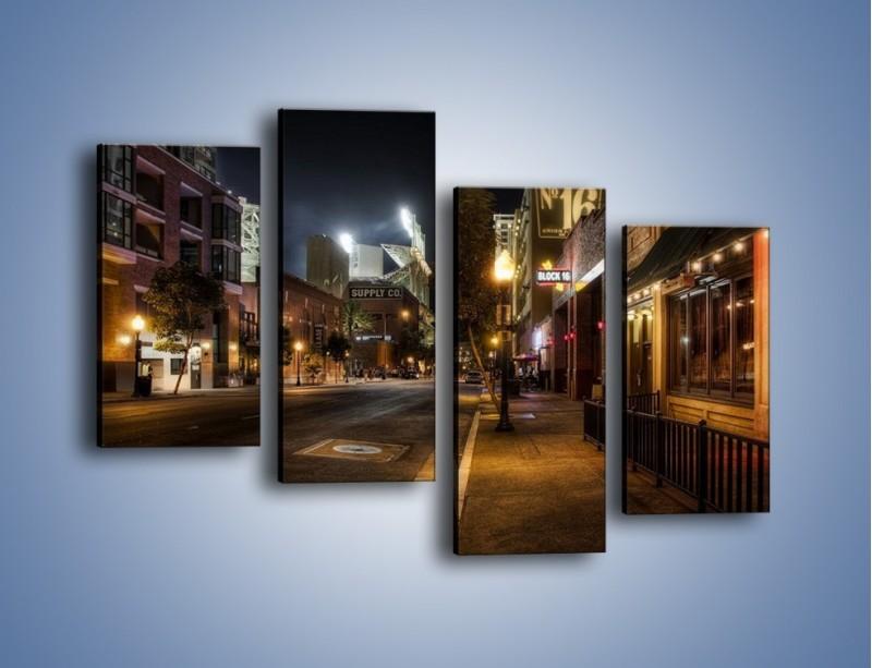 Obraz na płótnie – Ulica San Diego w Kaliforni – czteroczęściowy AM390W2