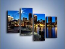 Obraz na płótnie – Boston wieczorową porą – czteroczęściowy AM393W2