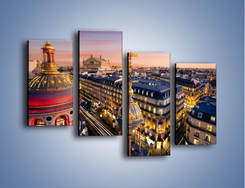 Obraz na płótnie – Paryska architektura – czteroczęściowy AM402W2