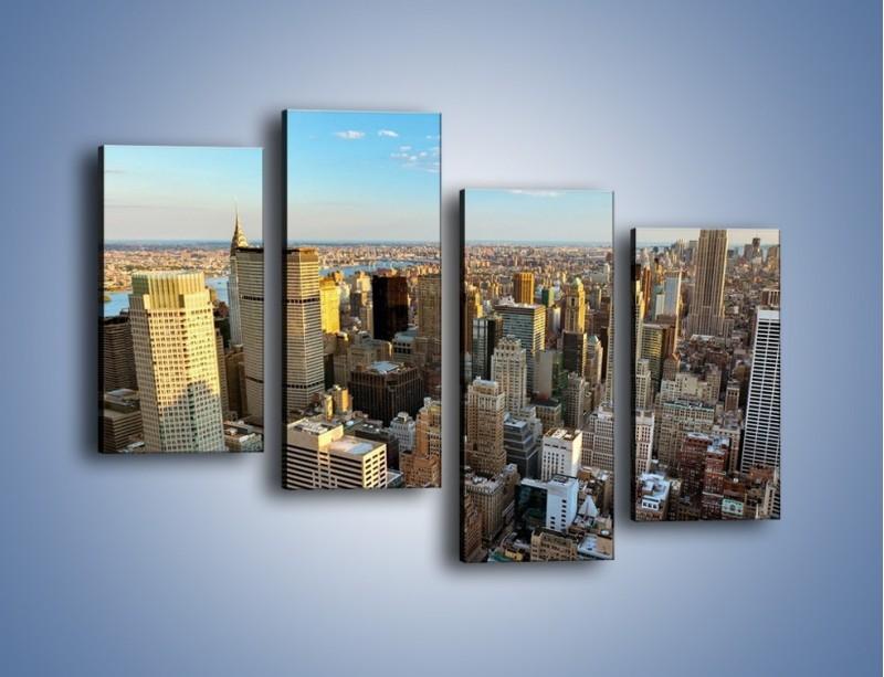Obraz na płótnie – Manhattan w Nowym Yorku – czteroczęściowy AM412W2