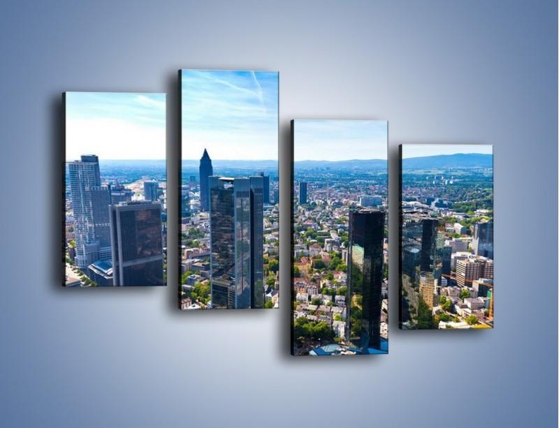 Obraz na płótnie – Panorama Frankfurtu – czteroczęściowy AM414W2