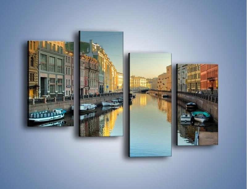 Obraz na płótnie – Kanał wodny w St. Petersburgu – czteroczęściowy AM422W2