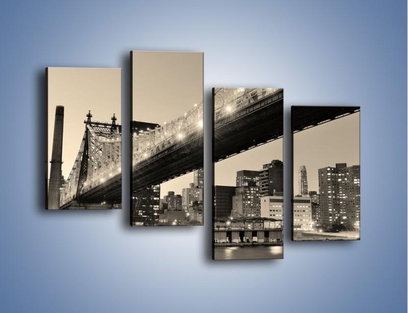 Obraz na płótnie – Most Qeensboro w Nowym Yorku – czteroczęściowy AM438W2