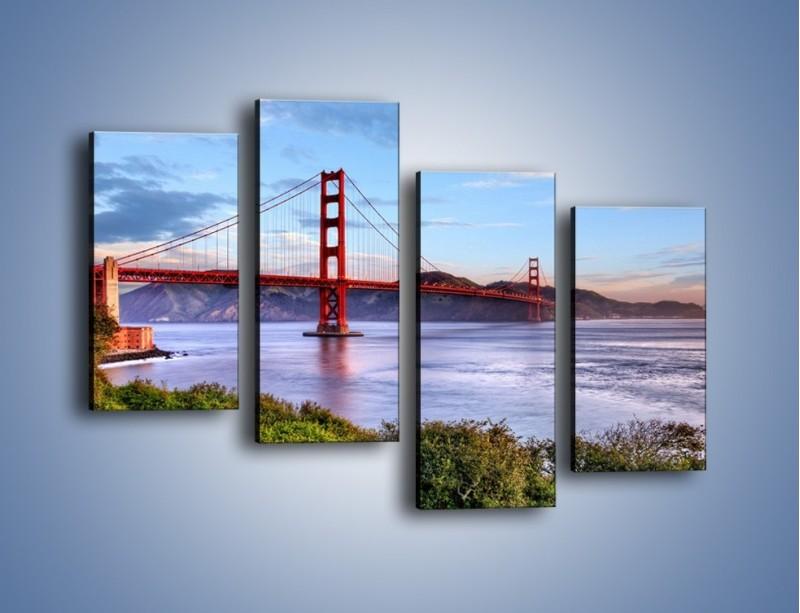 Obraz na płótnie – Most Golden Gate w San Francisco – czteroczęściowy AM444W2