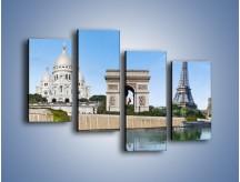 Obraz na płótnie – Atrakcje turystyczne Paryża – czteroczęściowy AM448W2