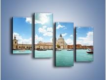 Obraz na płótnie – Canal Grande w Wenecji – czteroczęściowy AM449W2