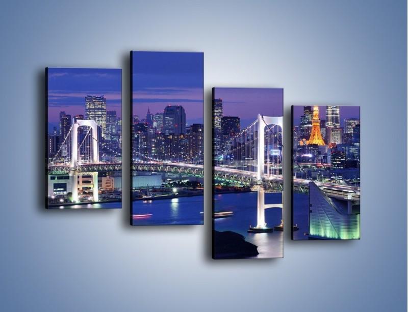 Obraz na płótnie – Tęczowy Most w Tokyo – czteroczęściowy AM460W2