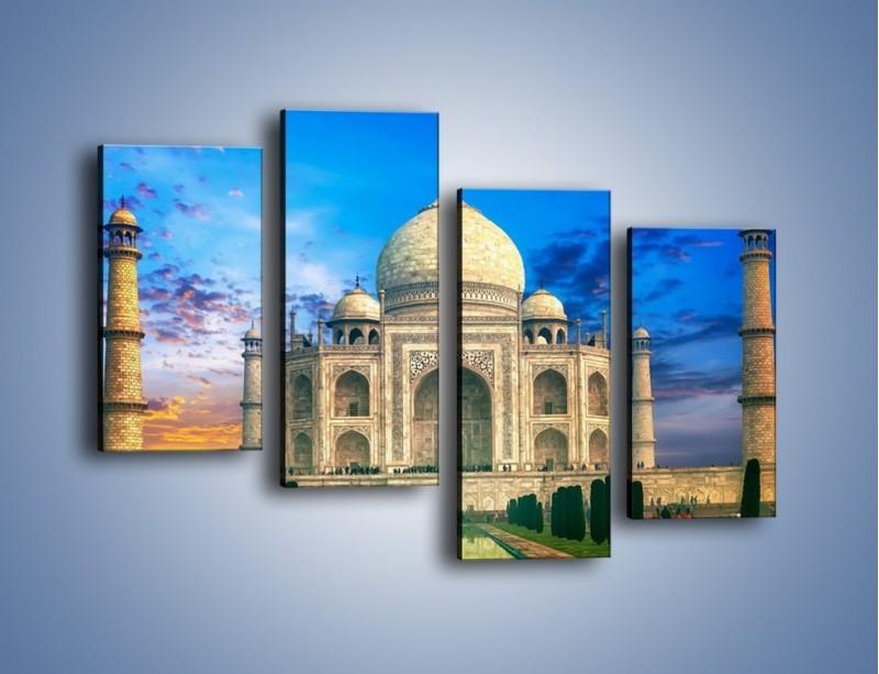 Obraz na płótnie – Tadź Mahal pod niebieskim niebem – czteroczęściowy AM466W2