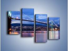 Obraz na płótnie – Most Lions Gate w Vancouver – czteroczęściowy AM471W2