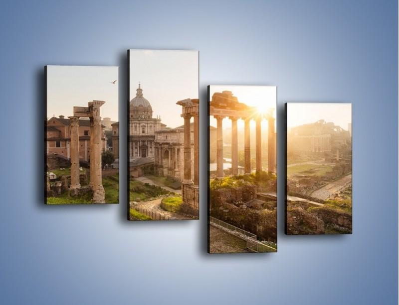 Obraz na płótnie – Rzymskie ruiny o zachodzie słońca – czteroczęściowy AM480W2