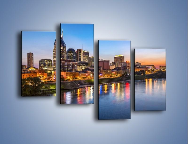 Obraz na płótnie – Nashville nad rzeką Cumberland – czteroczęściowy AM491W2