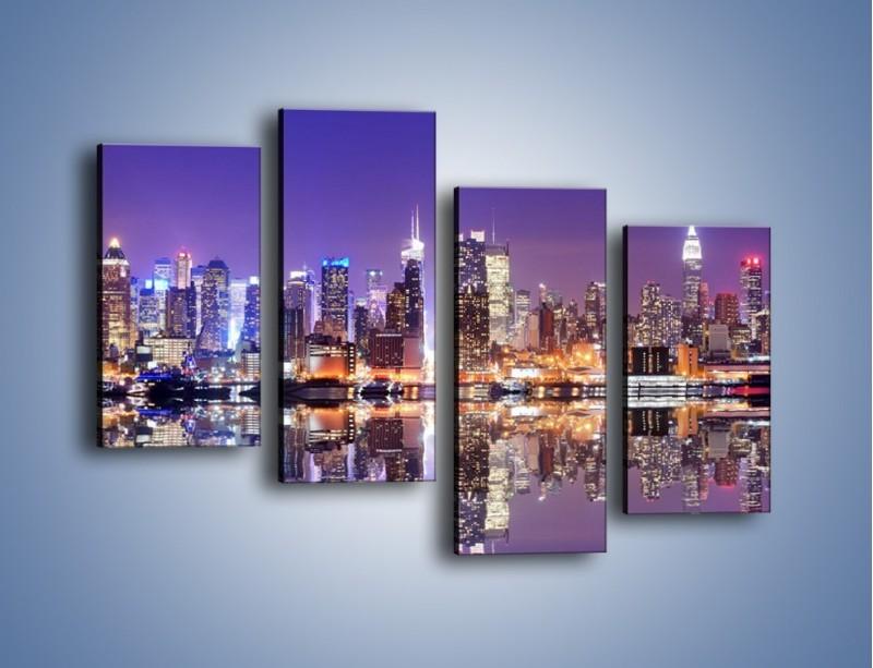 Obraz na płótnie – Panorama Midtown Manhattan – czteroczęściowy AM492W2