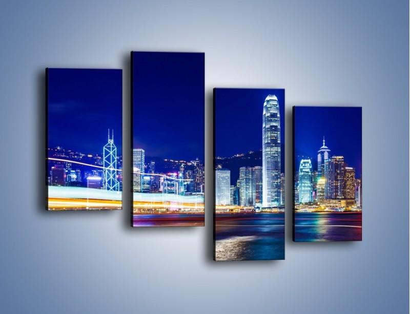 Obraz na płótnie – Panorama Hong Kongu – czteroczęściowy AM499W2