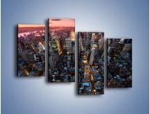 Obraz na płótnie – Widok na Manhattan z lotu ptaka – czteroczęściowy AM567W2