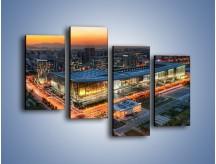 Obraz na płótnie – Centrum kongresowe CNCC w Chinach – czteroczęściowy AM575W2