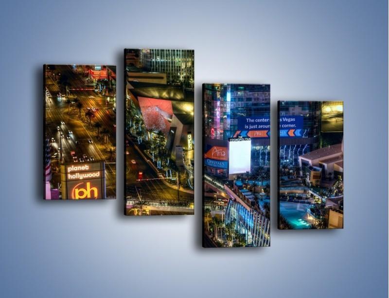 Obraz na płótnie – Cosmopolitan of Las Vegas – czteroczęściowy AM577W2