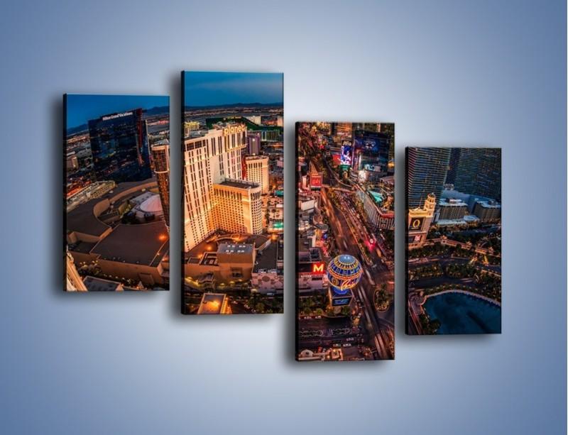 Obraz na płótnie – Centrum Las Vegas – czteroczęściowy AM588W2