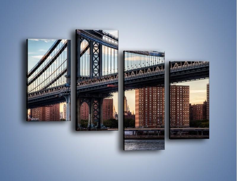 Obraz na płótnie – Manhattan Bridge – czteroczęściowy AM607W2
