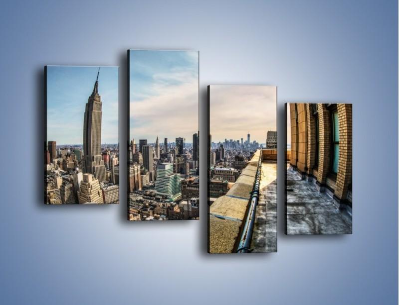 Obraz na płótnie – Empire State Building na Manhattanie – czteroczęściowy AM610W2