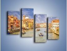 Obraz na płótnie – Canal Grande w Wenecji o poranku – czteroczęściowy AM617W2