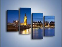 Obraz na płótnie – London Bridge i Big Ben – czteroczęściowy AM620W2