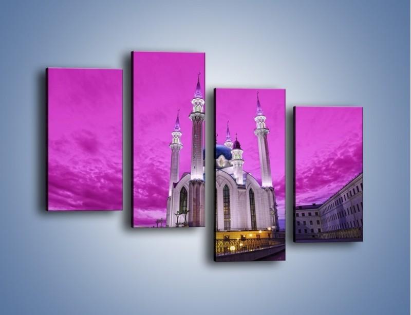 Obraz na płótnie – Meczet Kul Szarif – czteroczęściowy AM642W2