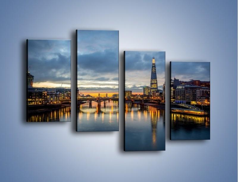 Obraz na płótnie – Millennium Bridge w Londynie – czteroczęściowy AM651W2