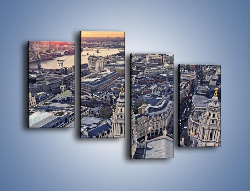 Obraz na płótnie – Widok na Londyn z Katedry św. Pawła – czteroczęściowy AM652W2