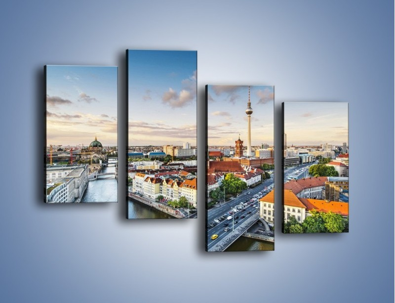 Obraz na płótnie – Panorama Berlina – czteroczęściowy AM673W2