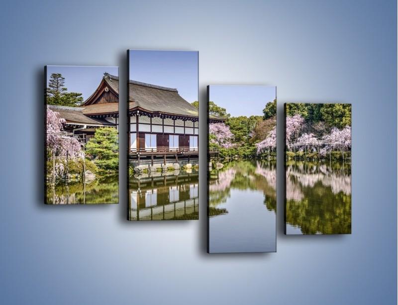 Obraz na płótnie – Świątynia Heian Shrine w Kyoto – czteroczęściowy AM677W2