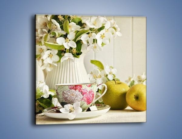 Obraz na płótnie – Poranna herbata u mamy – jednoczęściowy kwadratowy JN233