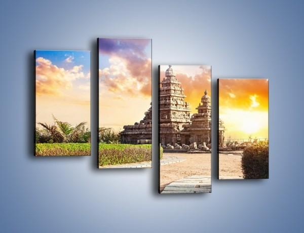Obraz na płótnie – Świątynia Śiwy o zachodzie słońca – czteroczęściowy AM696W2