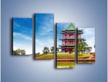 Obraz na płótnie – Chiński ogród w Singapurze – czteroczęściowy AM715W2