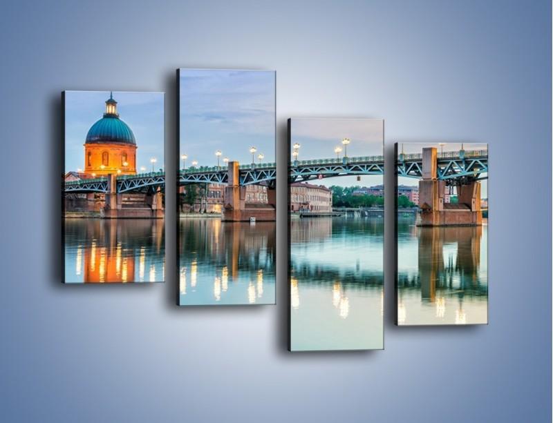 Obraz na płótnie – Most Saint-Pierre w Tuluzie – czteroczęściowy AM721W2