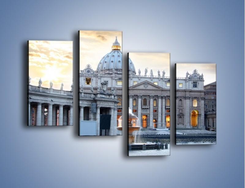 Obraz na płótnie – Bazylika św. Piotra w Watykanie – czteroczęściowy AM722W2