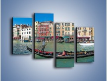 Obraz na płótnie – Panorama Canal Grande w Wenecji – czteroczęściowy AM745W2