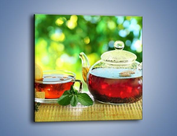 Obraz na płótnie – Ogrodowa herbatka – jednoczęściowy kwadratowy JN235
