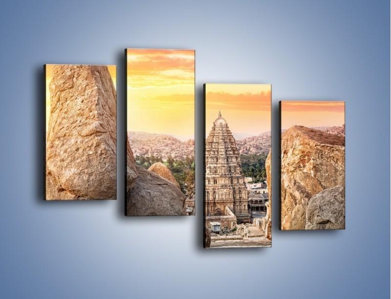 Obraz na płótnie – Świątynia Virupaksha w Indiach – czteroczęściowy AM787W2
