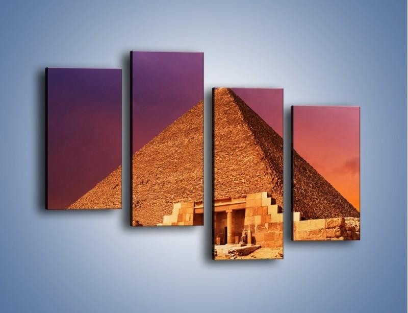 Obraz na płótnie – Piramida w Egipcie – czteroczęściowy AM812W2