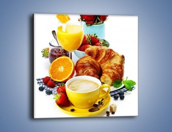 Obraz na płótnie – Zdrowe śniadanie dla zakochanych – jednoczęściowy kwadratowy JN240