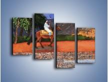 Obraz na płótnie – Arabski szejk na koniu – czteroczęściowy GR052W2