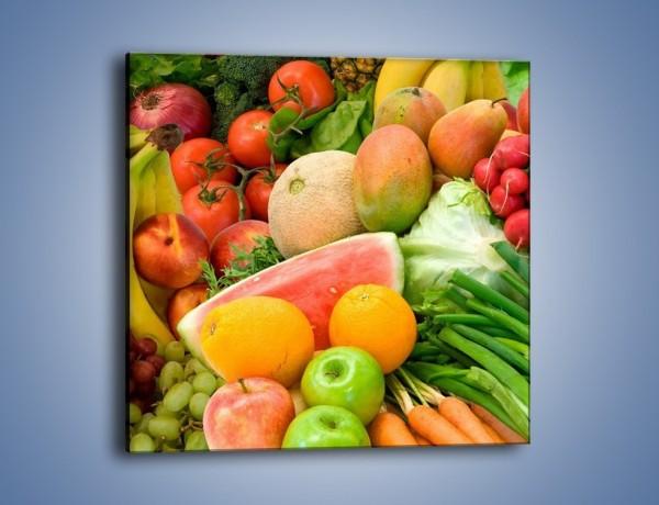 Obraz na płótnie – Mieszanka owocowo-warzywna – jednoczęściowy kwadratowy JN245