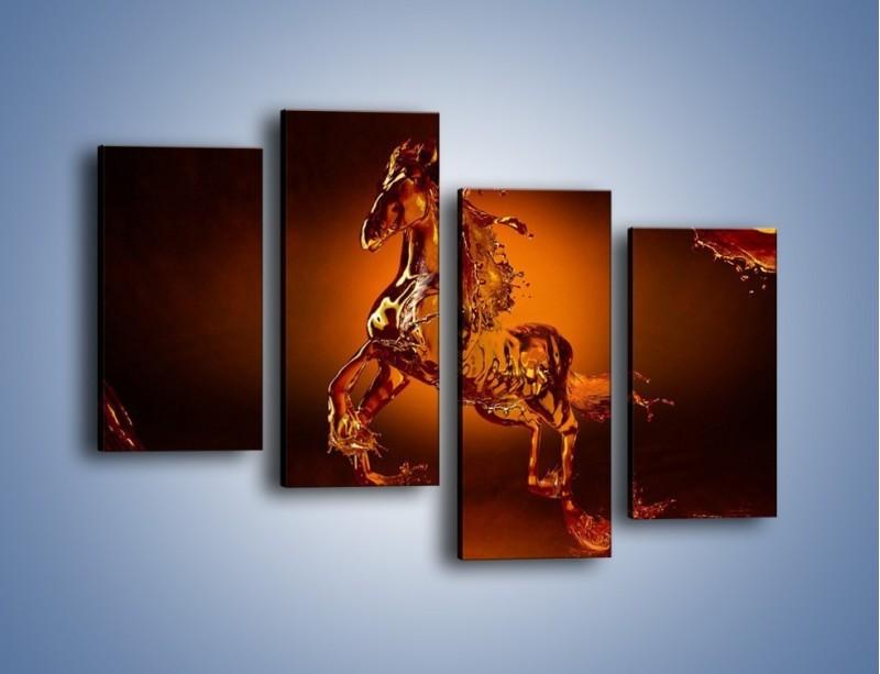 Obraz na płótnie – Wodny koń w mocnym świetle – czteroczęściowy GR228W2