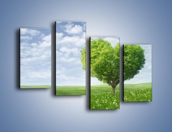 Obraz na płótnie – Miłość w zieleni – czteroczęściowy GR250W2