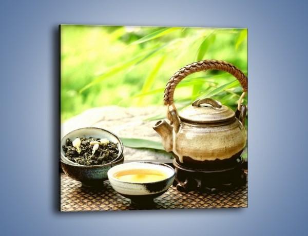 Obraz na płótnie – Herbata na świeżym powietrzu – jednoczęściowy kwadratowy JN249