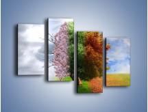 Obraz na płótnie – Cztery pory roku – czteroczęściowy GR333W2