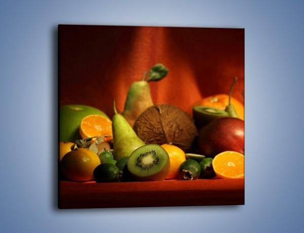 Obraz na płótnie – Owocowy stół – jednoczęściowy kwadratowy JN250