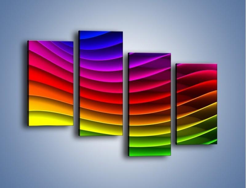 Obraz na płótnie – Falą w kolorze – czteroczęściowy GR393W2