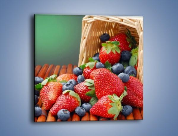 Obraz na płótnie – Truskawkowo-jagodowy obłęd – jednoczęściowy kwadratowy JN251