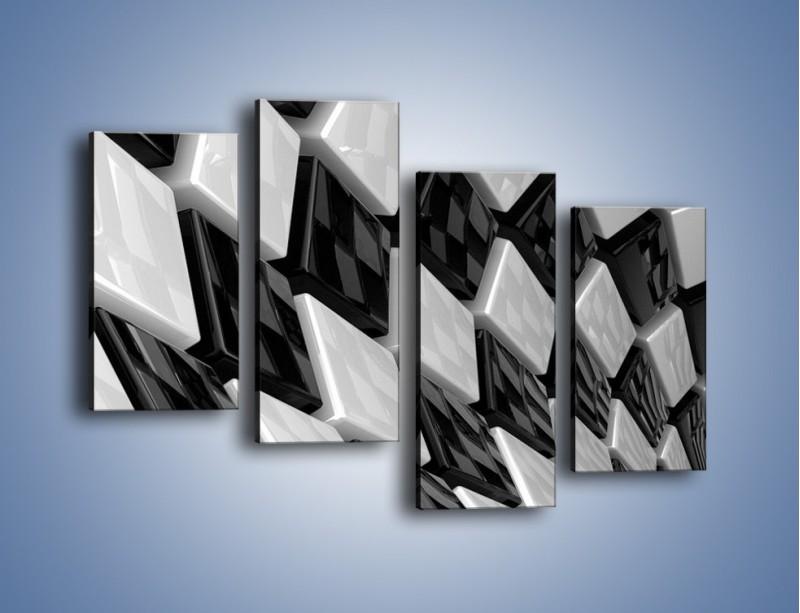 Obraz na płótnie – Czarne czy białe – czteroczęściowy GR425W2